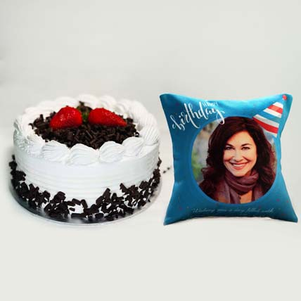 Black Forest Cake and Personalised Cushion: