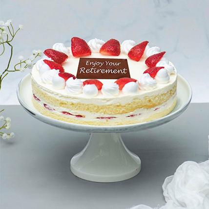 Fresh Strawberry Cake For Retirement: Retirement Gifts