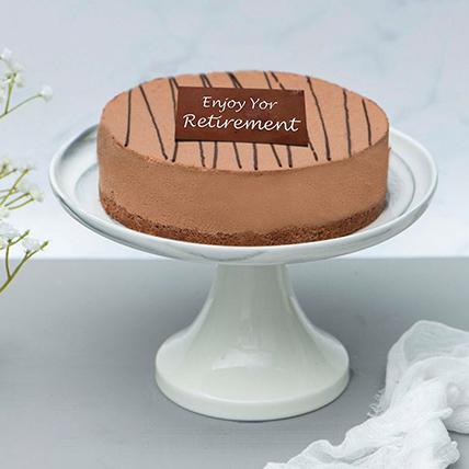 Rich Chocolate Truffle Retirement Cake: