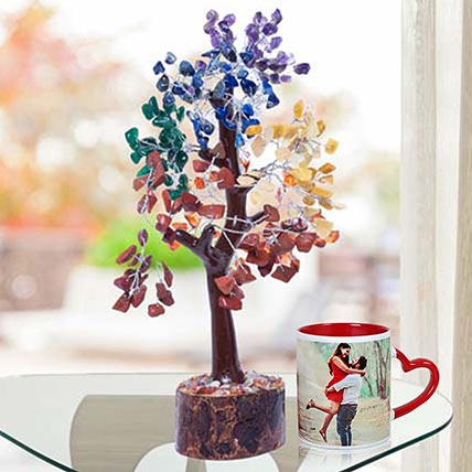 Wish Tree With Personalised Red Ceramic Mug: Personalised Anniversary Gifts