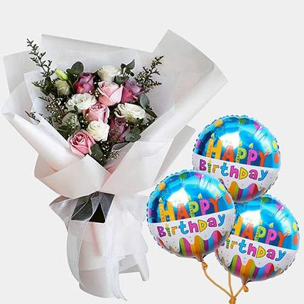 10 Sweet Desire With Birthday Balloon: Flowers N Balloons