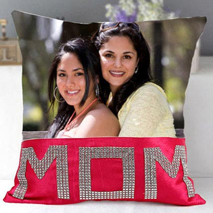 Dazzling Mom Cushion: Customized Mother's Day Gift