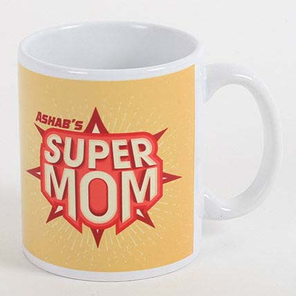 Super Mom Personalized Mug: Customized Mother's Day Gift