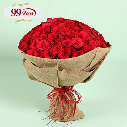 Majestic Gesture 99 Red Roses: 99 Roses Bouquet