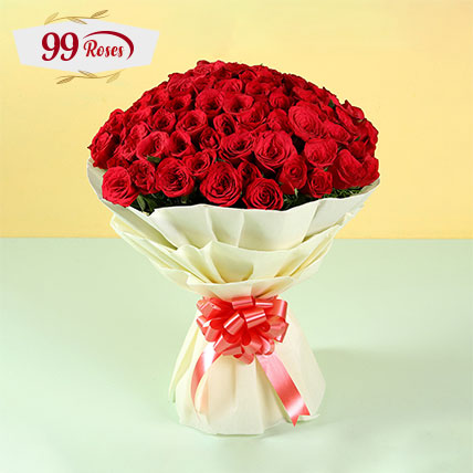 Elegent Bouquet of 99 Roses: 99 Roses