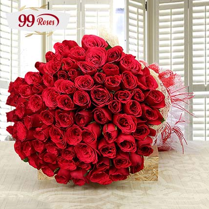 Love And Love: 99 Roses Bouquet