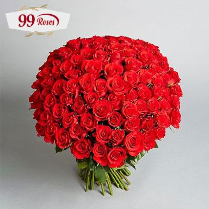 Love You A Lot Bouquet: 99 Roses