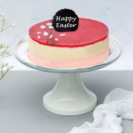 Fresh Raspberry Lychee Rose Cake for Easter: Traditional Easter Cake