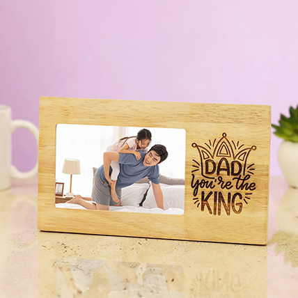 Kind Dad Engraved Photo Frame: Personalised Engraved Gifts