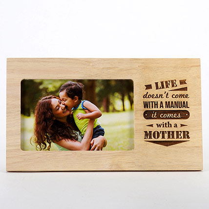 Life Comes With A Mother Photo Frame: Personalised Engraved Gifts