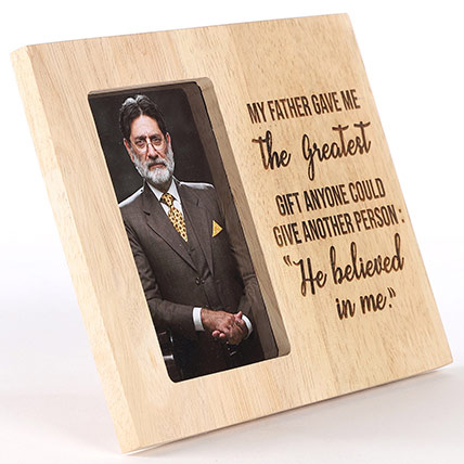 My Father Believed In Me Personalised Photo Frame: Personalised Engraved Gifts
