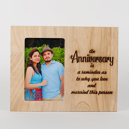 Personalised Anniversary Engraved Frame: Personalised Gifts Singapore