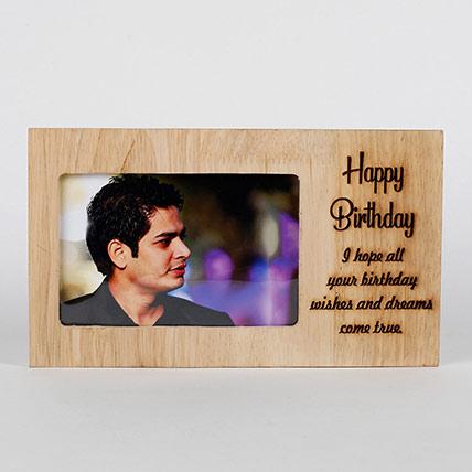 Personalised Birthday Engraved Frame: Personalised Birthday Gifts