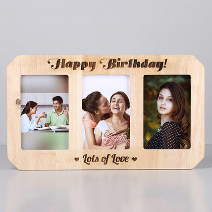 Personalised Happy Birthday Wooden Photo Frame: Personalised Engraved Gifts