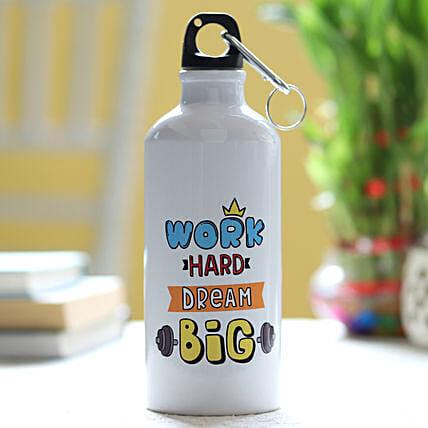 Work Hard Dream Big Bottle: Personalised Gifts For Men