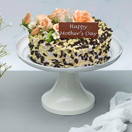 Chocolate and Vanilla Chip Cake: Mothers Day Cake