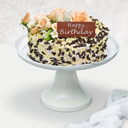 Chocolate and Vanilla Choco Chip Cake For Birthday: Birthday Cake Singapore
