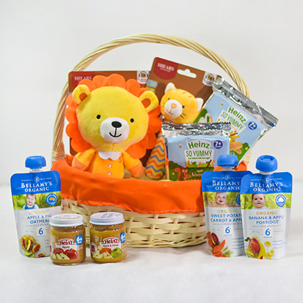 Soft Toys Assorted Puree Sweet Baby Hamper: Gift Hampers