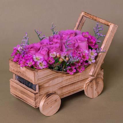 Elegant Purple Roses Arrangement: