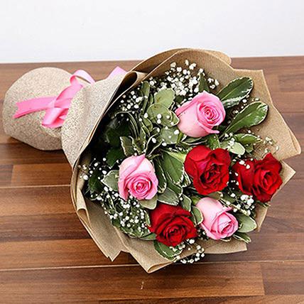 Attractive 6 Stolen Roses Bouquet: Florist Serangoon