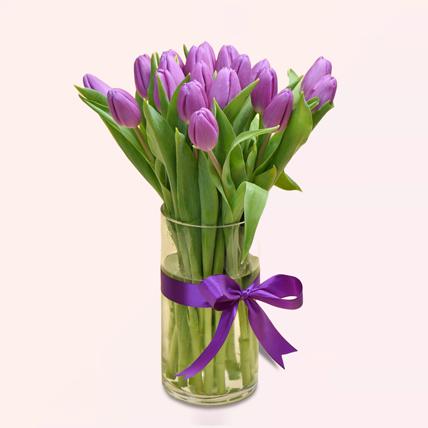 Purple Tulip Arrangement: Gifts For Men