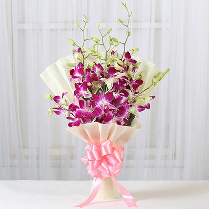 Impressive Orchids Flowers Bunch: Graduation Flower Bouquets