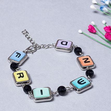 Girls Black Beads Beaded Link Friendship Bracelet: Friendship Day Gifts