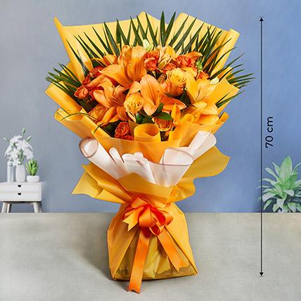 Sweet Orange Blossoms Bouquet: Premium Flowers