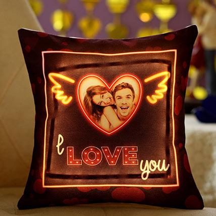 I Love You Personalised Led Cushion: Personalised Cushions