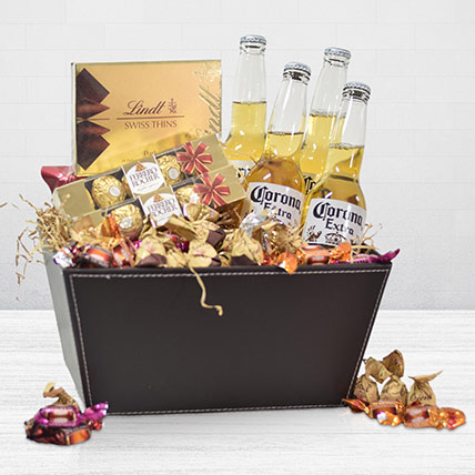 Corona Beer Sweet Treats Hamper: Same Day Delivery Gifts Singapore
