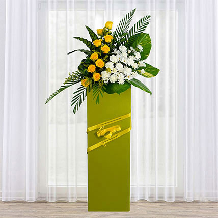 Everlasting Condolence Mixed Flowers: Flowers Delivery Singapore