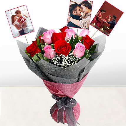 Personalised Stolen Kisses Roses: Flower Bouquet with Personalised Gift
