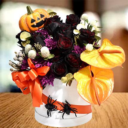 Halloween Theme Mixed Flowers Arrangement: Halloween Gifts
