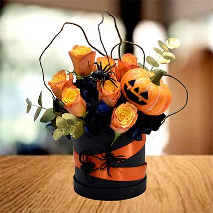 Happy Halloween Mixed Flowers Arrangement: Halloween Gifts