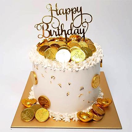 Happy Bday Money Pulling Cake: Cake Delivery Singapore