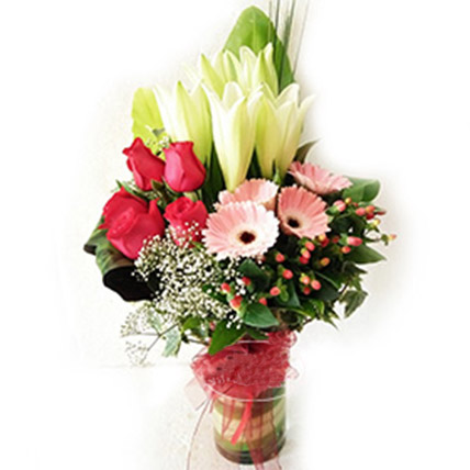 Mixed Flowers Vase Arrangement: Flowers To Malaysia
