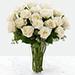 Vase Of Elegant 12 White Roses