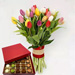 Vibrant Tulips Bunch & Sugar Free Truffles