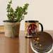 Jade Plant Personalised Black Mug With Chocolate Cake