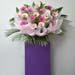 Light N Dark Pink Gerberas Flower Stand