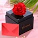 forever red rose box with greeting card