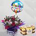 Birthday Flower Arrangement With Ferrero Rocher