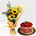 Bouquet Of Sunshine with Cake