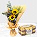 Bouquet Of Sunshine with Ferrero Rocher