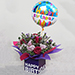 Sweet Flower Arrangement With Balloon