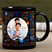 Black Personalised Mug For Fathers Day Wish