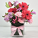 Lovely Mixed Flowers Arrangement In Glass Vase