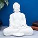 White Handcrafted Solid Buddha Decorative Showpiece