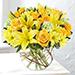 Happy Flowers In Bowl Arrangement