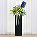 Bless Your Soul Condolence Mixed Flowers Black Stand